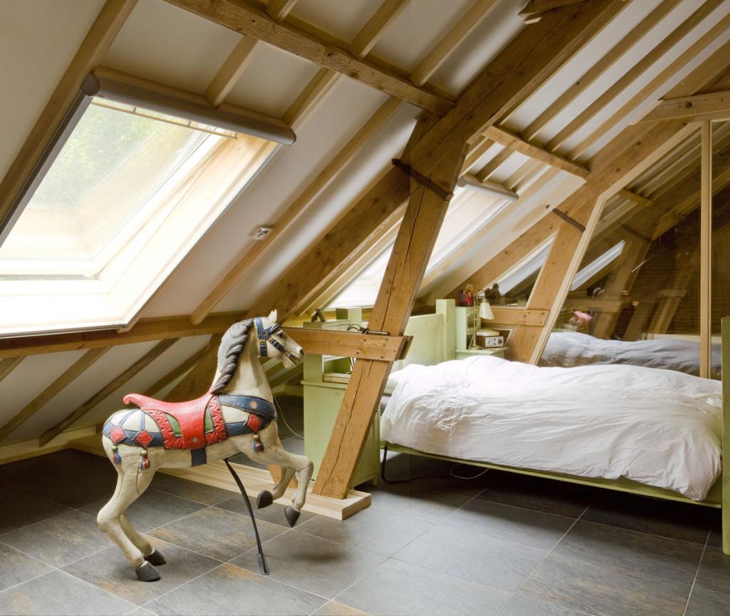 Zolderkamer slaapkamer